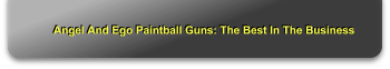 Angel And Ego Paintball Guns: The Best In The Business