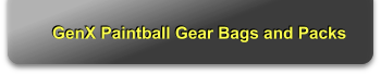GenX Paintball Gear Bags and Packs