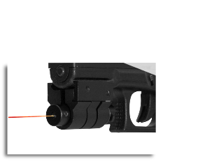 Red Laser Sight With Weaver Mount Black
