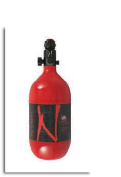 Ninja Pro Carbon Fiber Air Tank - 45/4500 - Red