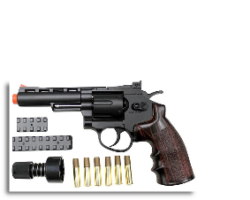 WinGun 702 6 Revolver CO2 Gas Gun BK