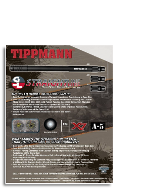 Tippmann Straight Line Barrel Kit for Model 98 or Alpha Black