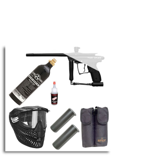Kingman .50 cal Opus-A Paintball Marker Starter Package - Black w/9oz CO2
