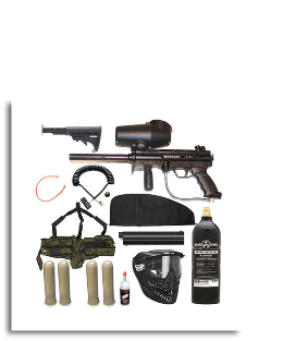 Tippmann A5 Sniper Paintball Package