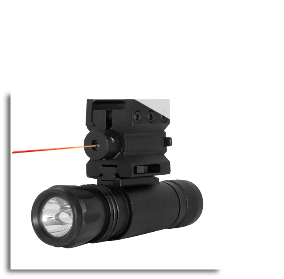 Led Flashlight With Combo Weaver Mount