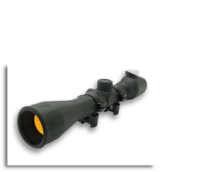 3-9x40 Green ILL. Rubber Coated Scope Ruby Lens Ring