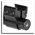 Compact Red Laser Sight With Weaver Mount Black