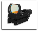 Red Dot Reflex Sight 4 Different Reticals Weaver Black
