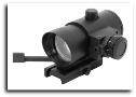 1X40 Red Dot Sight With Red Laser Weaver Mount