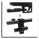 Red Laser Sight  Barrel & Trigger Guard Mount Black Combo