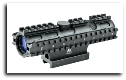 2-7x32 Compact Scope 3 Rail Sighting System Mil-Dot Green Weaver Mount